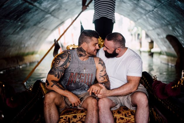 Patrick Huber and Jimmy Sjödin got engaged in Venice in