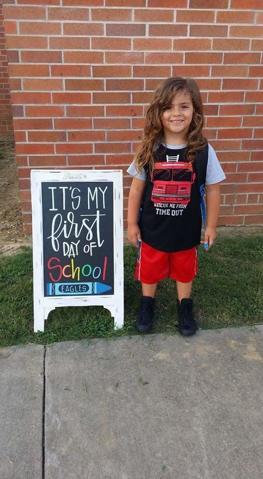 Four-year-old Jabez Oates had his first day of pre-K on Thursday.