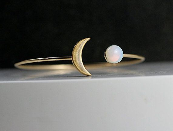 """Get it <a href=""""https://www.etsy.com/listing/259560906/crescent-moon-bangle-with-genuine?ga_order=most_relevant&ga_search"""