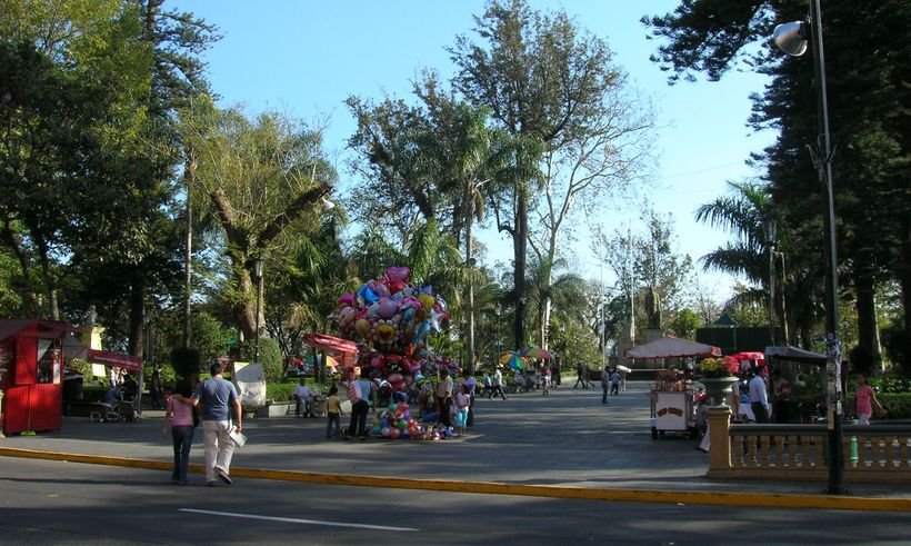 A quaint, colorful park in Xalapa, mexico