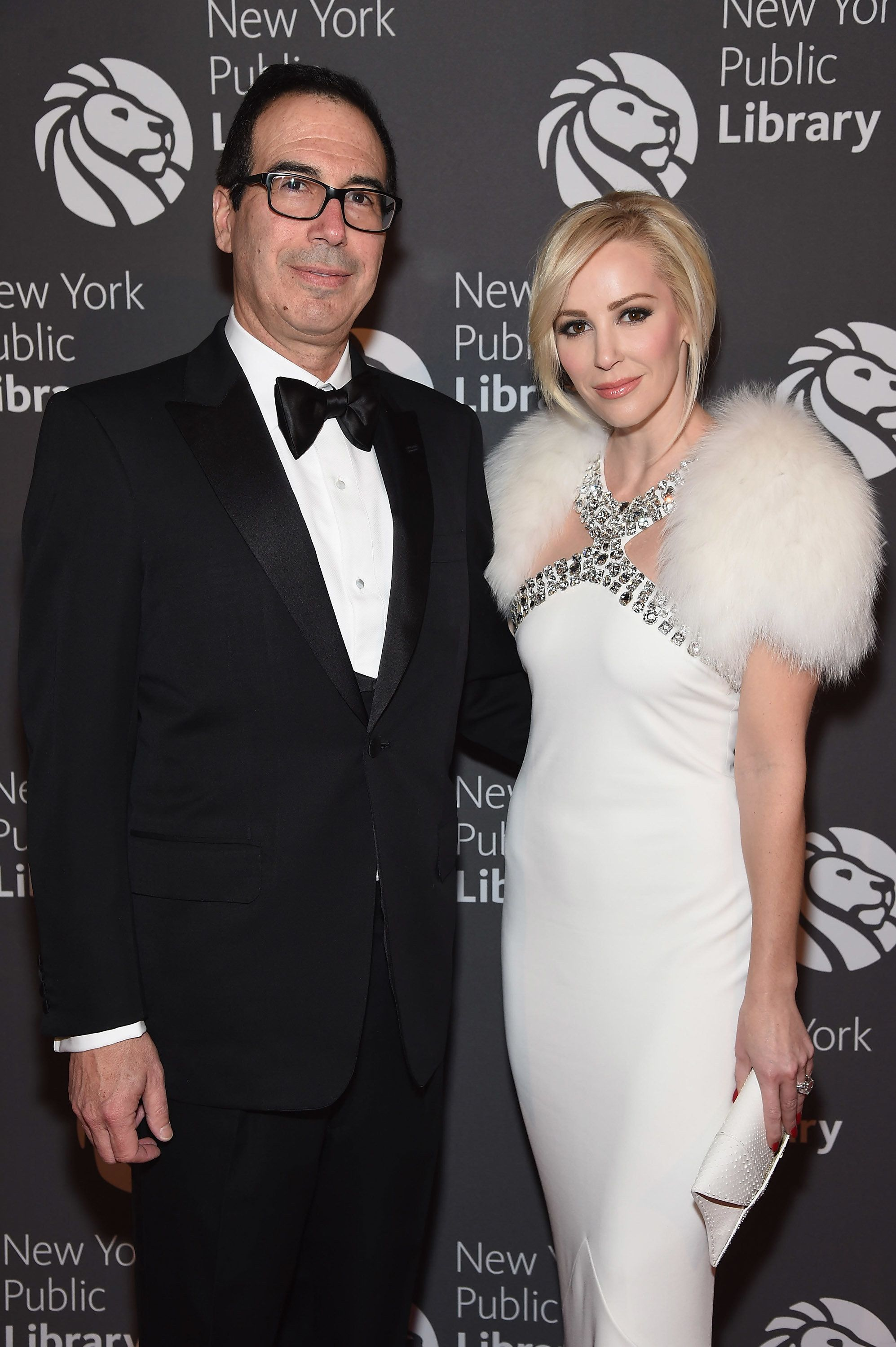 NEW YORK, NY - NOVEMBER 07: Steven Mnuchin and Louise Linton attend the 2016 Library Lions Gala at New York Public Library - Stephen A Schwartzman Building on November 7, 2016 in New York City.  (Photo by Gary Gershoff/WireImage)