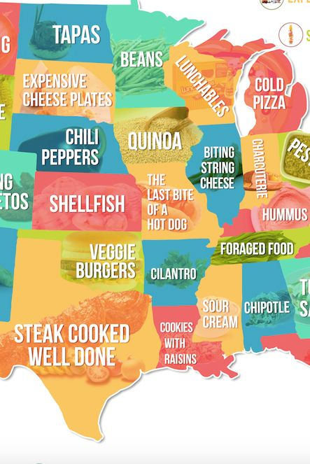 This Map Shows Which Food People Hate The Most In Each