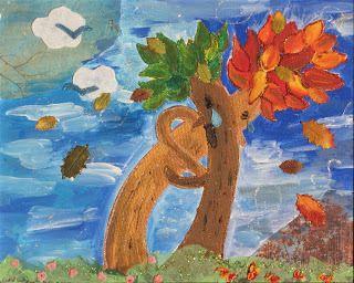 """End of Summer"" My mixed media art"