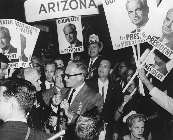 Sen. Barry Goldwater during the1964 campaign.