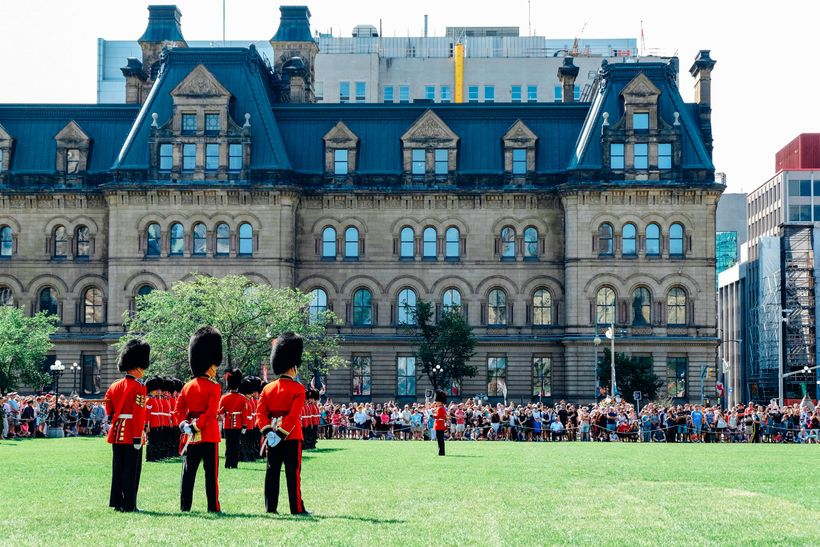 Changing of the Guard Ceremony in Parliament Hill