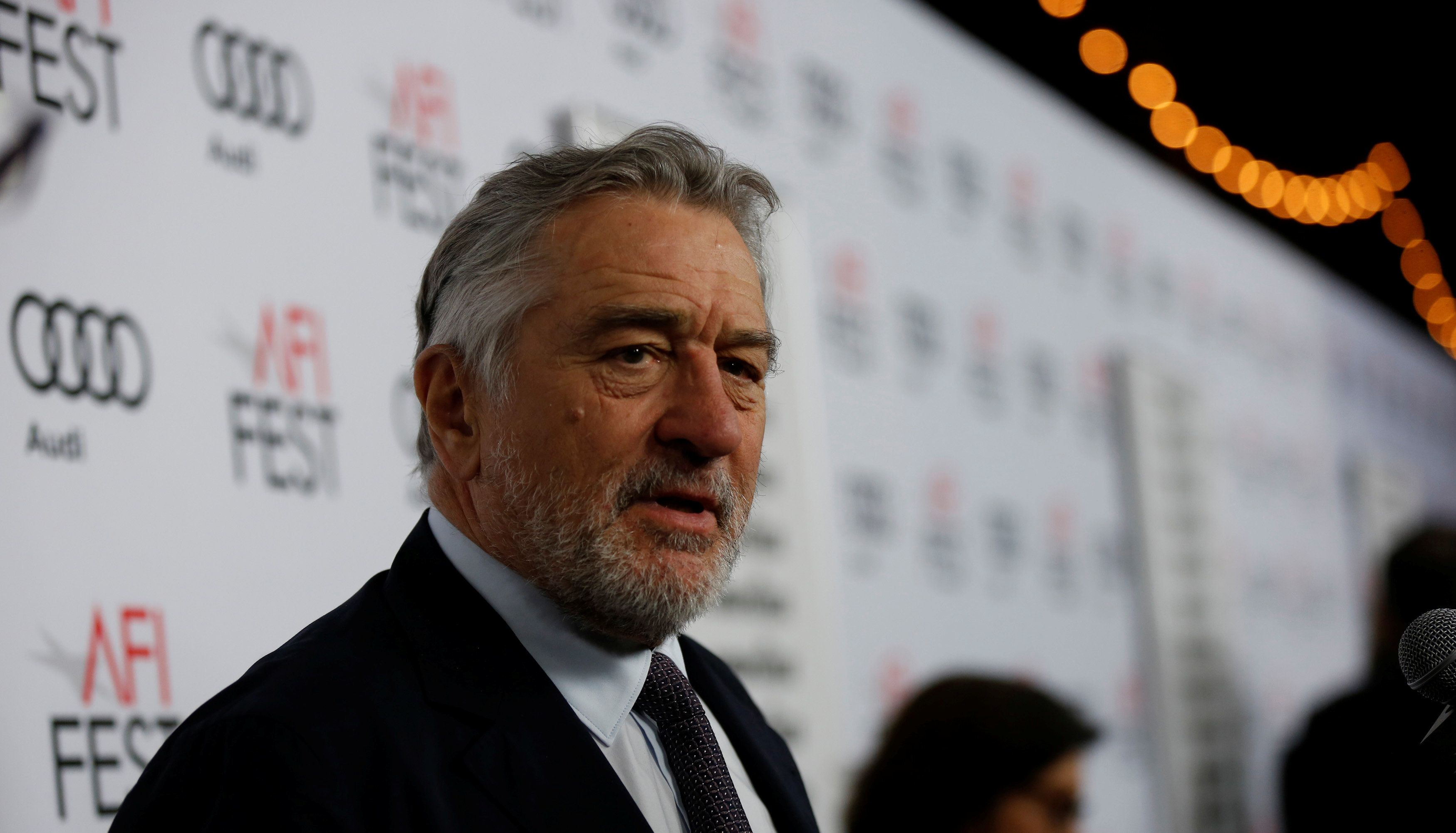 """Cast member Robert De Niro is interviewed at the premiere of """"The Comedian"""" during AFI Fest at the Egyptian Theatre in Los Angeles, California U.S., November 11, 2016.   REUTERS/Mario Anzuoni"""