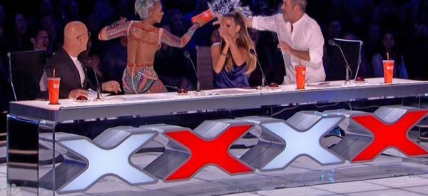 Mel B Throws Water Over Simon Cowell And Storms Off Live 'America's Got Talent' Show After Marriage Quip