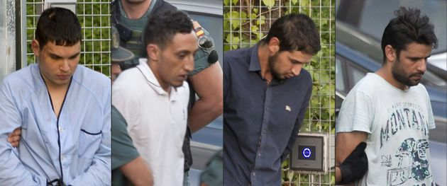 The Barcelona terror attack suspects (from left) Mohamed Houli Chemlal, Driss Oukabir, Salah El Karib,...