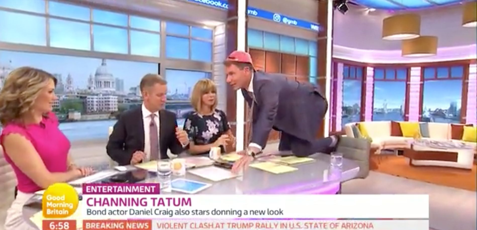 No One Knows Where To Look As Richard Arnold Gyrates On The 'Good Morning Britain'