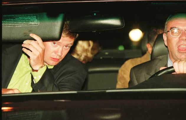 Rees-Jones and Paul are seen in the front seat of the car. The back of Diana's head is visible in the