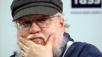 ST PETERSBURG, RUSSIA - AUGUST 16, 2017: George R.R. Martin, an American novelist, screenwriter, TV producer; the author of a series of epic fantasy novels, A Song of Ice and Fire, adapted into HBO series Game of Thrones (2011present time), gives a press conference on his current literary work and TV projects. Alexander Demianchuk/TASS (Photo by Alexander Demianchuk\TASS via Getty Images)