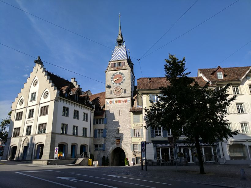 Nestled in the heart of Switzerland, Zug features many old, historic buildings.