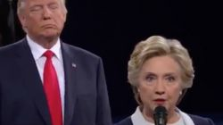 Hillary Clinton Says Her 'Skin Crawled' When Trump Stood Behind
