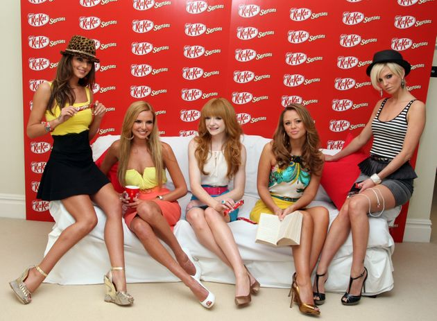 Girls Aloud doing some really subtle promo work in