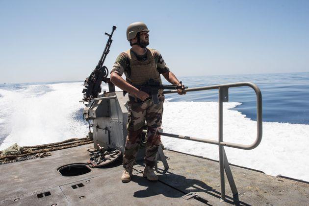 The Libyan coastguard is heavily