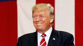 U.S. President Donald Trump arrives at a campaign rally in Phoenix, Arizona, U.S., August 22, 2017.   REUTERS/Joshua Roberts