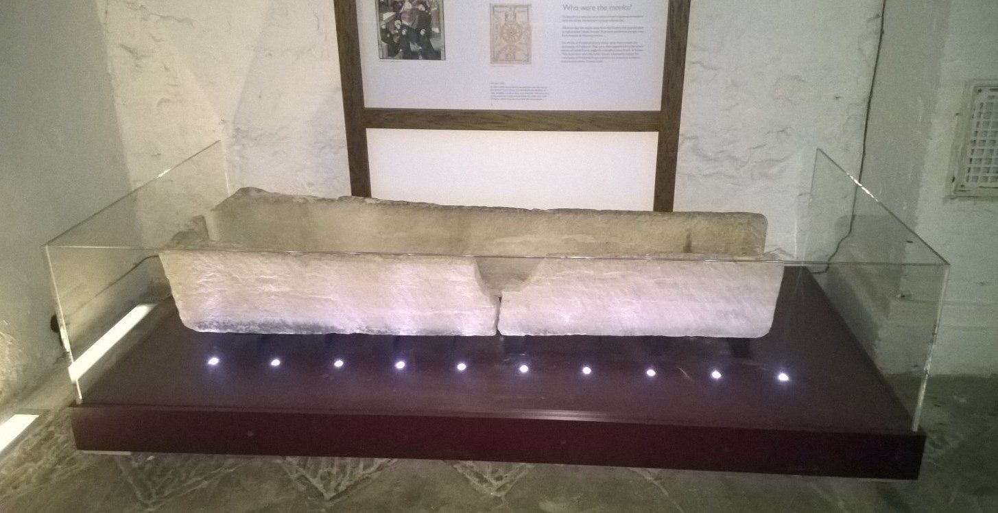 An 8--year-old coffin was damaged after a child was placed inside for a photo according to the museum where it was on display