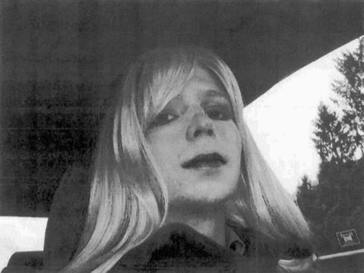 The famous photograph Chelsea took of herself in 2010 Photo: US Army via AP File