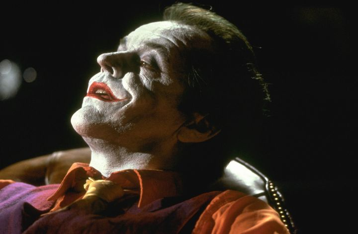 "Jack Nicholson portrays The Joker in Tim Burton's ""Batman."""