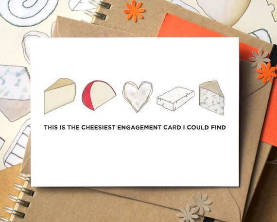 """<a href=""""https://www.etsy.com/listing/238475944/cheesy-engagement-card-funny-engagement?ga_order=most_relevant&ga_search_"""