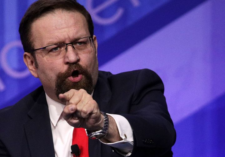 Sebastian Gorka participates in a discussion during the Conservative Political Action Conference on Feb.24.