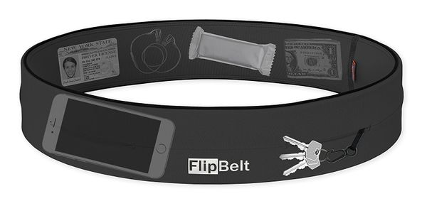 You don't have to opt for a fanny-pack to make sure your prized possessions are safe. Store them in the FlipBelt which lays s
