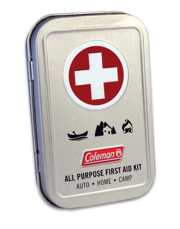 "Carry a standard first-aid kit in the event of a mini-emergency. <a href=""https://www.amazon.com/Coleman-Purpose-Piece-F"
