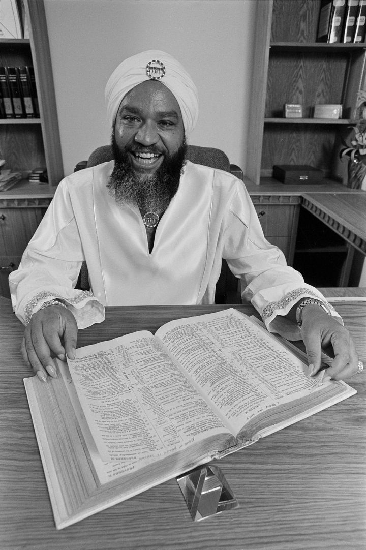 Symonette has said he started following YahwehbenYahweh (pictured), after the cult leadercame up to him and