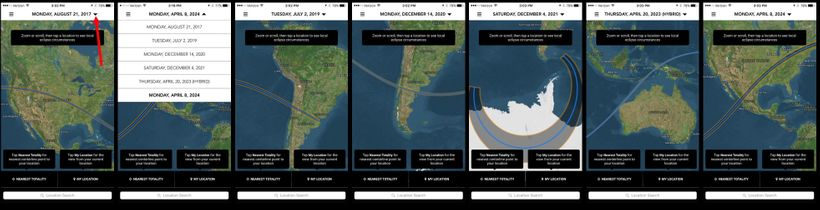 """You can use the <a rel=""""nofollow"""" href=""""http://www.bigkidscience.com/eclipse/"""" target=""""_blank"""">Totality app</a> to see maps f"""