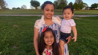Riccy Enriquez Perdomo a 22-year-old recipient of the Deferred Action for Childhood Arrivals program and her two children