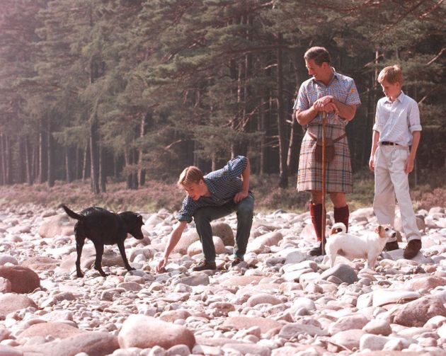 Prince Charles, who was holidaying at his family summer home in Balmoral with Princes William and Harry...