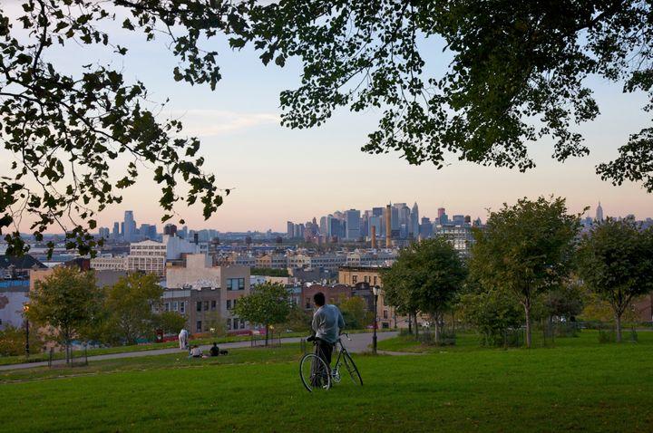 Sunset Park offers spectacular views of the Manhattan skyline.