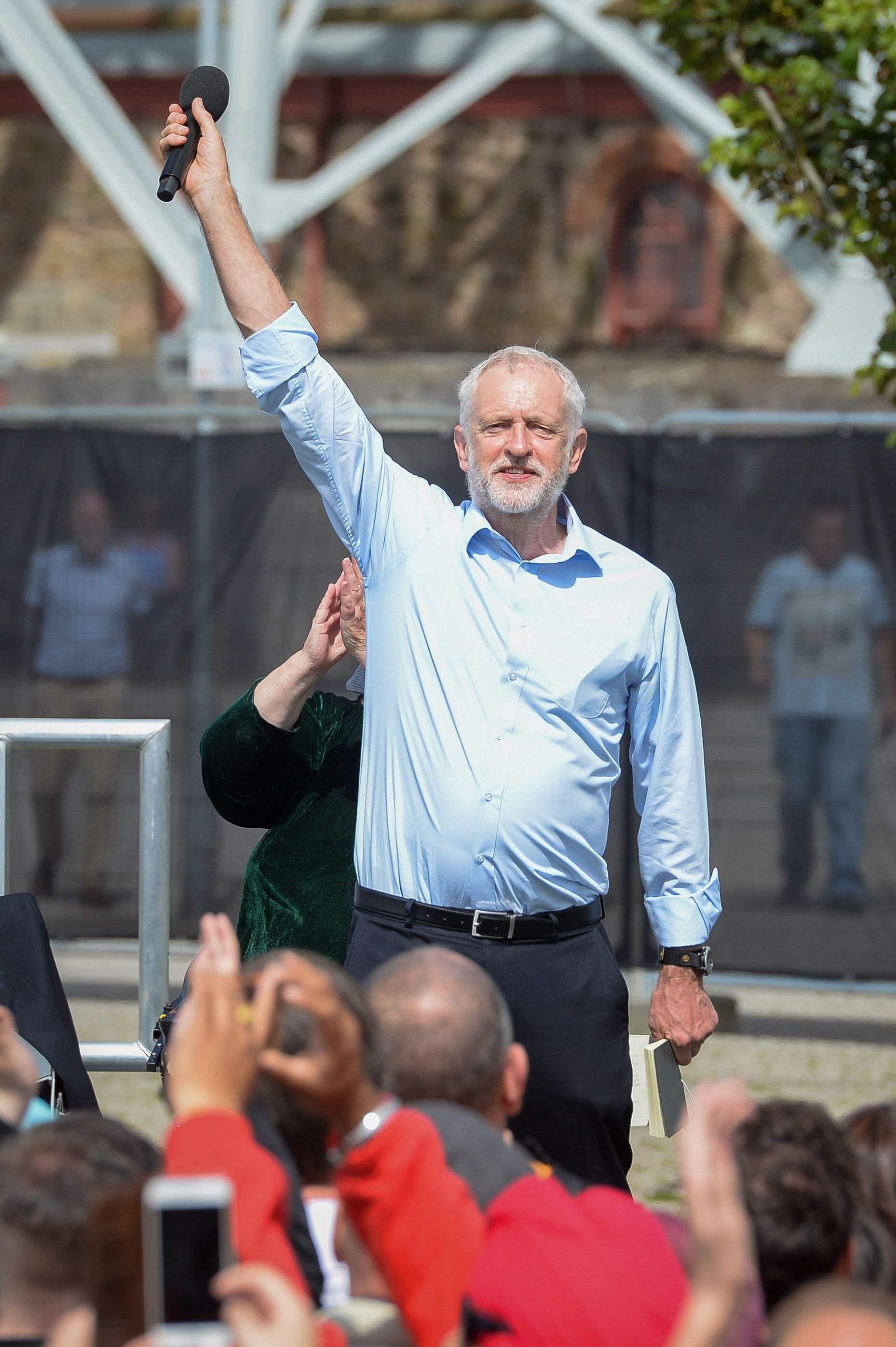 Labour leader Jeremy Corbyn has not left the campaign