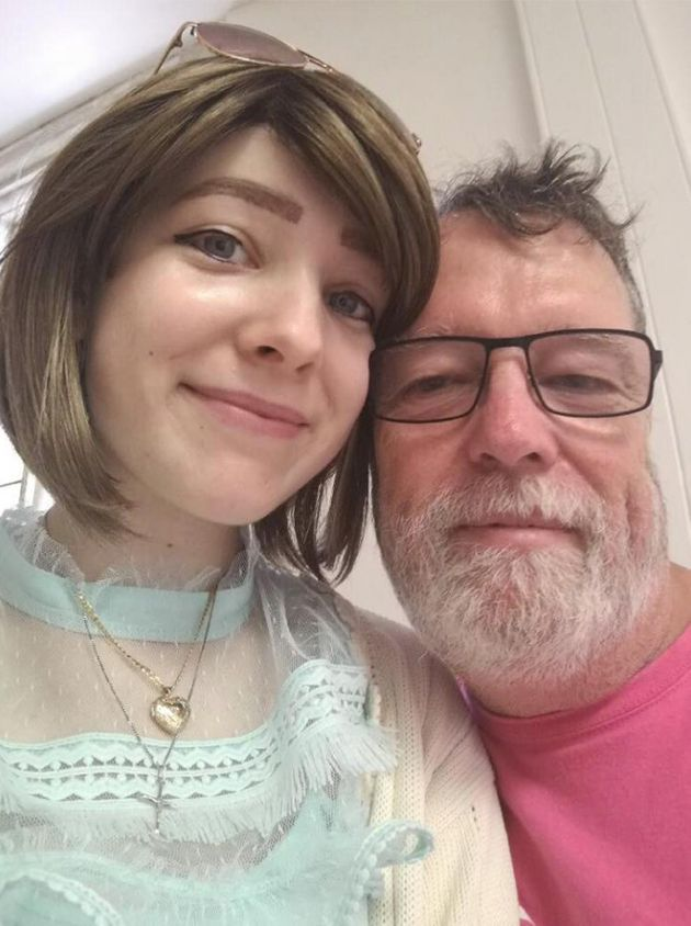 The 17-year-old and her father