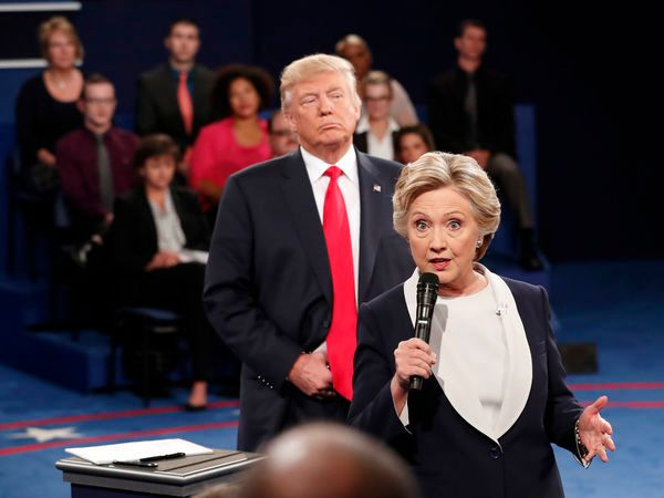 During their second Presidential debate, Donald Trump shadowed Hillary Clinton and repeatedly invaded her personal space - a