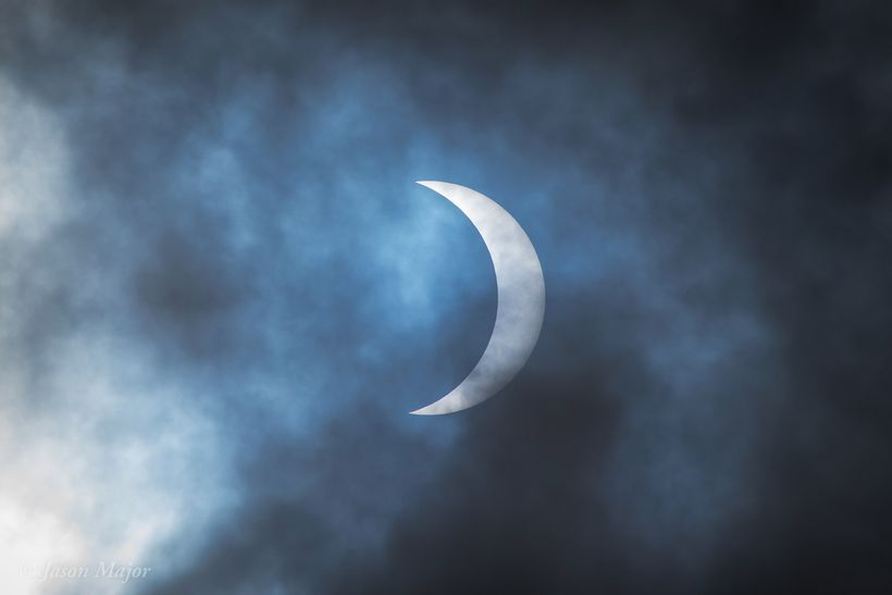 "Total solar eclipse in progress. Image taken on Aug 21, 2017 at Fort Johnson, Charleston, South Carolina by <a rel=""nofollow"""