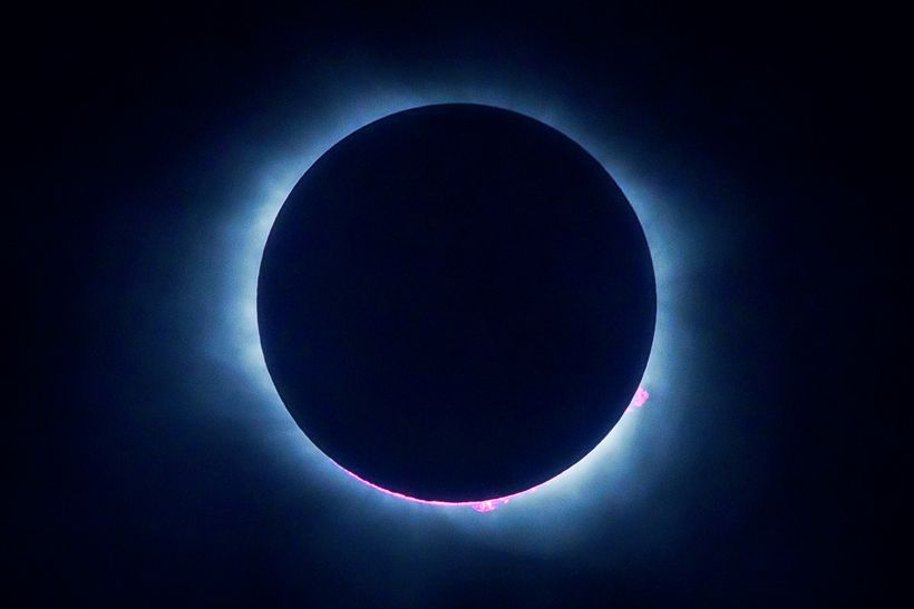 "Totality during the solar eclipse. Image taken on Aug 21, 2017 at Fort Johnson, Charleston, South Carolina by <a rel=""nofollo"