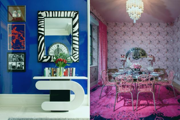 Left: A room atThe Dakota. Right: A room at Bikoff's Holiday House in