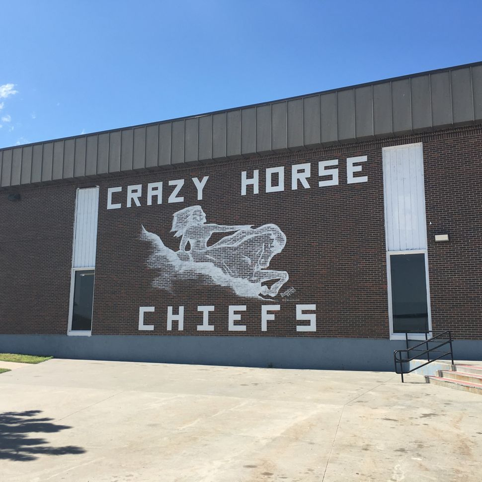 Julia Chipps, the school nurse, has a small budget to buy tampons, pads and Midol for the girls at the Crazy Horse School. But it's not enough to keep up with the demand.