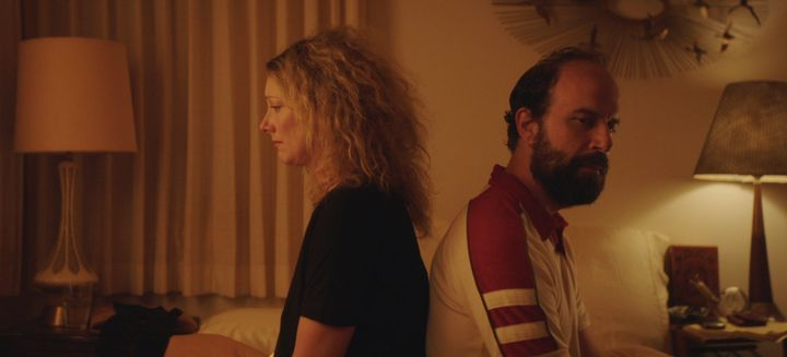 "Judy Greer and Brett Gelman in ""Lemon."""