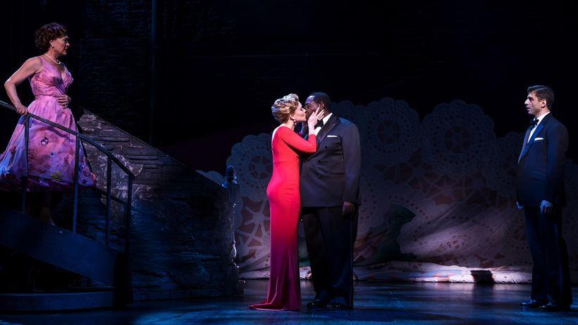 Karen Ziemba, Emily Skinner, Chuck Cooper and Tony Yazbeck in <em>Prince of Broadway</em>