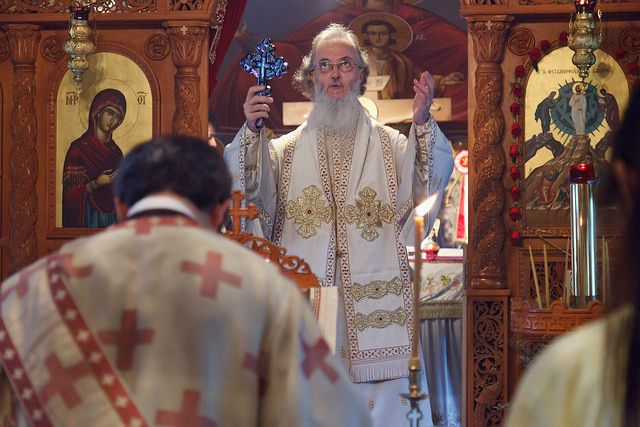 Metropolitan Ambrosios of Korea Celebrating the Great Feast of the Transfiguration of our Lord at the Holy Monastery in Gapye