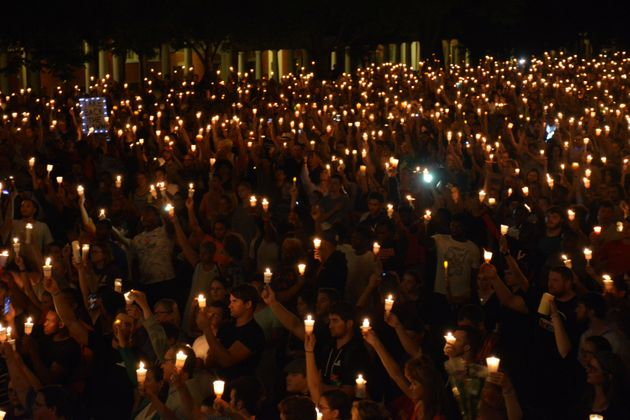 A vigil held in the wake of the Charlottesville