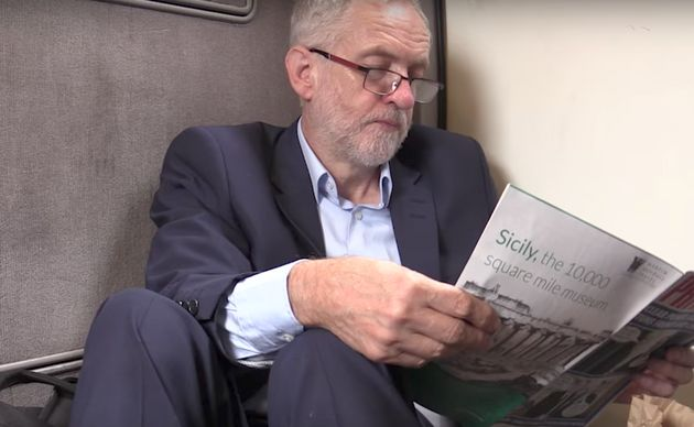 Jeremy Corbyn was filmedsitting on the floor of a Virgin train last