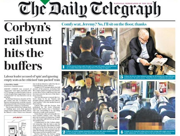 Newspapers were quick to jump on 'Traingate' amid confusion about the timeline of events. A hi-res image...