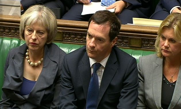 Theresa May and George Osborne when they were in Government