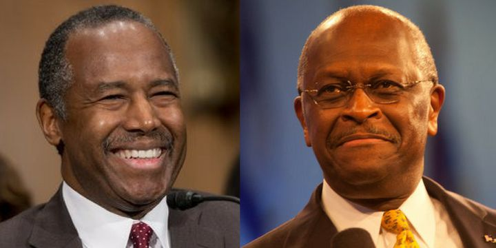 "Herman Cain is defending Ben Carson in a letter&nbsp;titled &ldquo;<a href=""https://www.hermancain.com/house-negroes-stand-up"