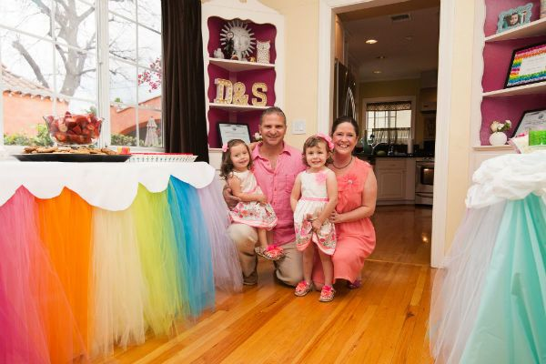 """""""We celebrated our adoption day with a rainbow party, because rainbows appear after a storm. Last year on our 1-year annivers"""