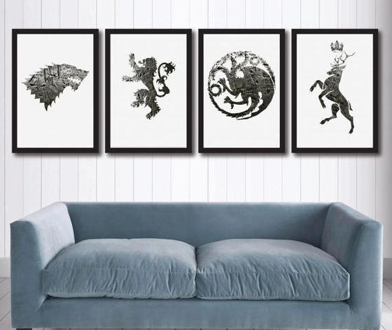 "Game of Thrones canvas wall art, <a href=""https://www.etsy.com/uk/listing/519605975/game-of-thrones-canvas-wall-art-set-of-4"""