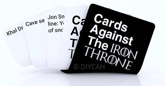 "Cards against the iron throne, <a href=""https://www.etsy.com/listing/530331758/cards-against-the-iron-throne-game-of?utm_camp"
